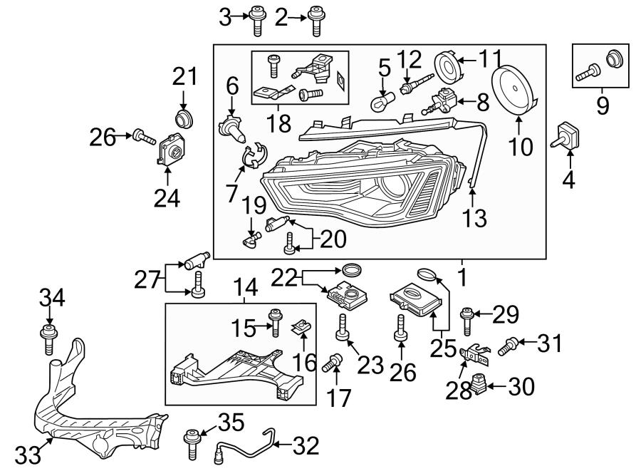 2013 Audi allroad Headlight Socket. Headlight Wiring