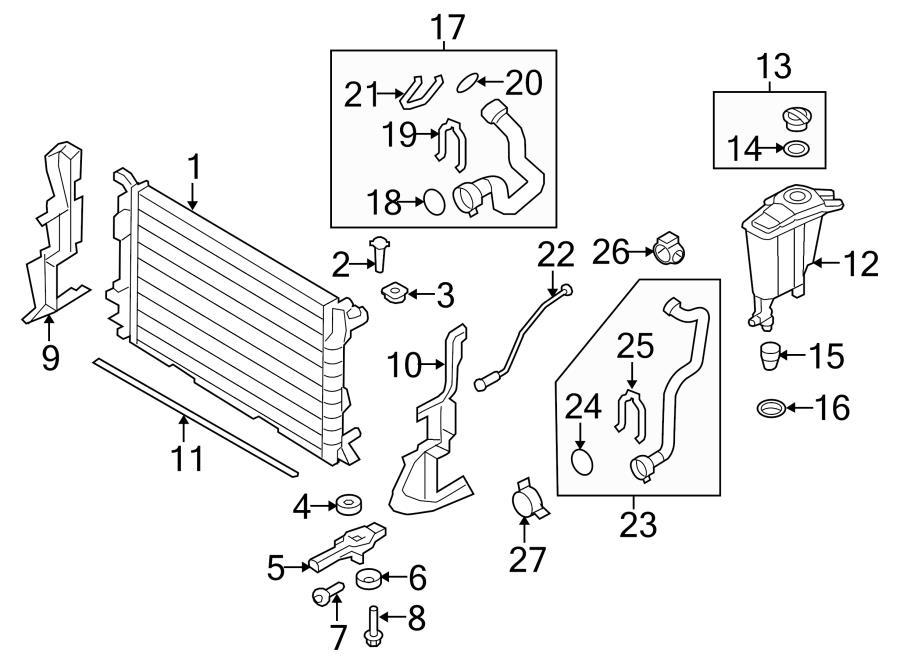 2013 Audi Engine Coolant Expansion Tank. Engine Coolant