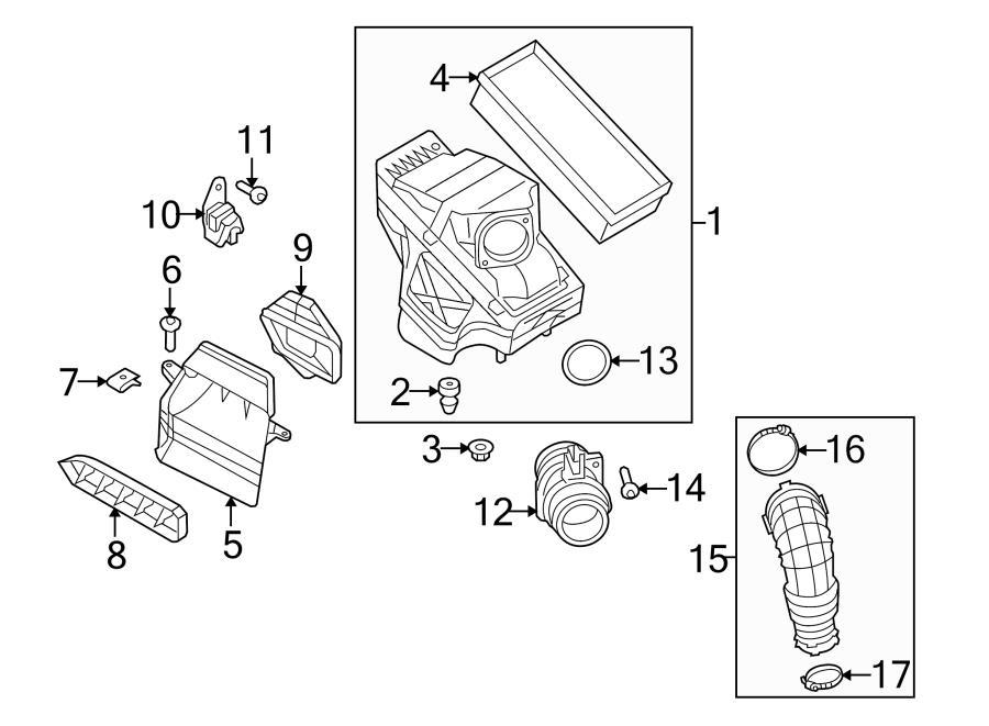 2014 Audi allroad Air guide. Air inlet duct. Engine Air