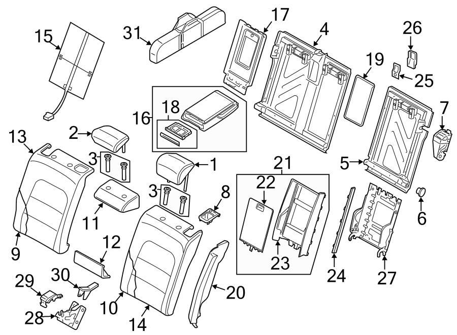 2014 Audi S5 Seat Back Panel. Storage compart. Trim. WFOLD