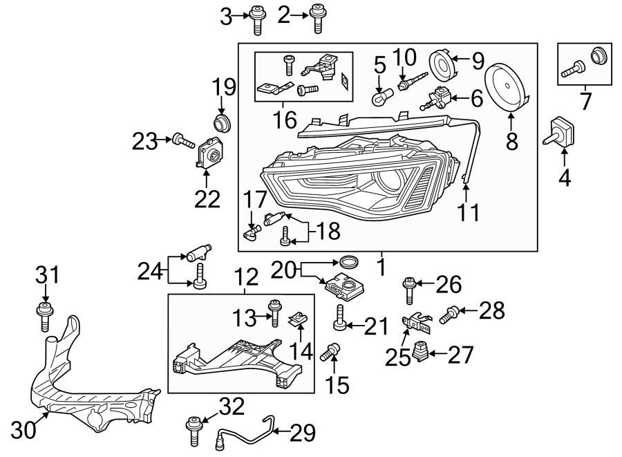 2014 Audi A4 Composite headlamp. Headlamp assy. Headlight