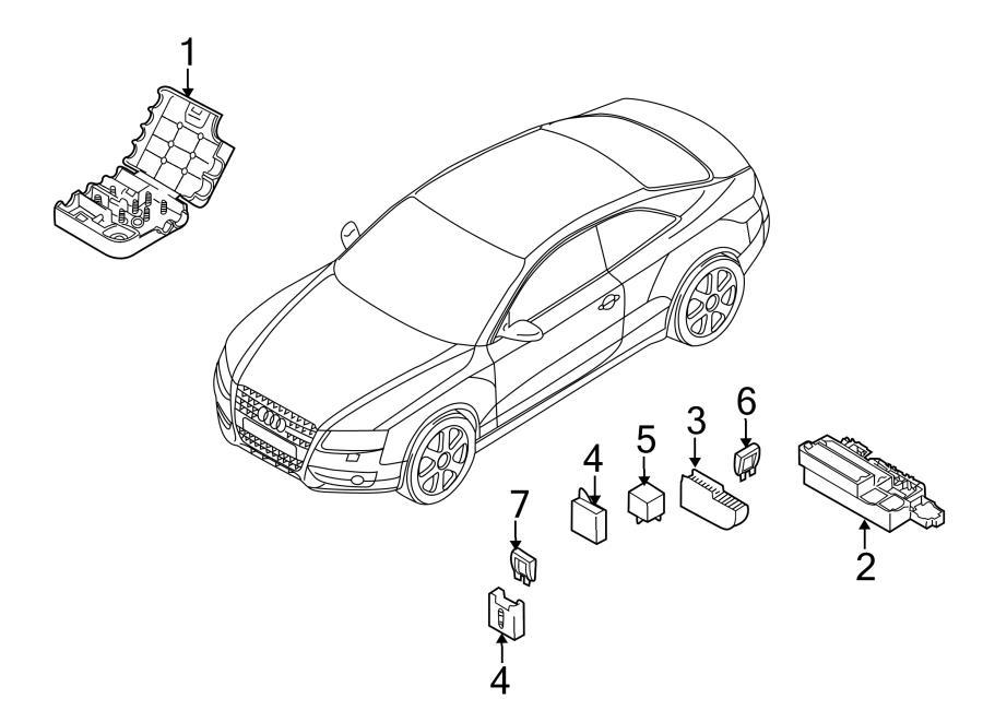 2013 Audi S4 Fuse Box. Relay & fuse plt. Relay Box. Relay