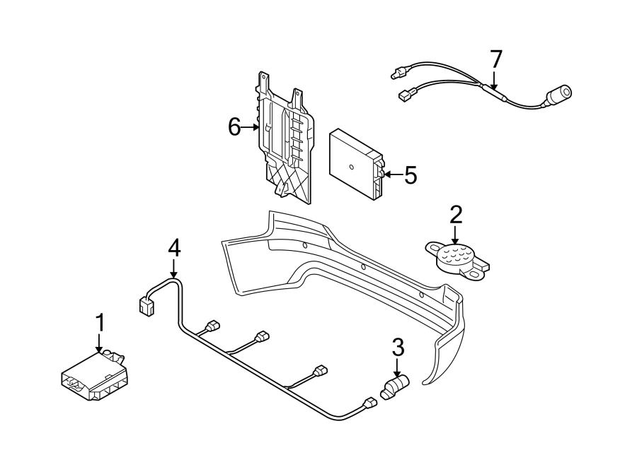 2014 Audi S4 Parking Aid System Wiring Harness. Wire