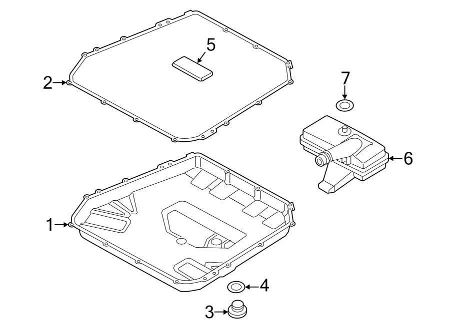 2012 Audi Auto Trans Drain Plug. Auto Trans Oil Pan Drain
