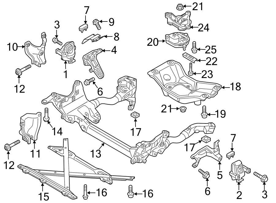 Audi S4 Engine Cradle Bolt. Lower brace mount bolt