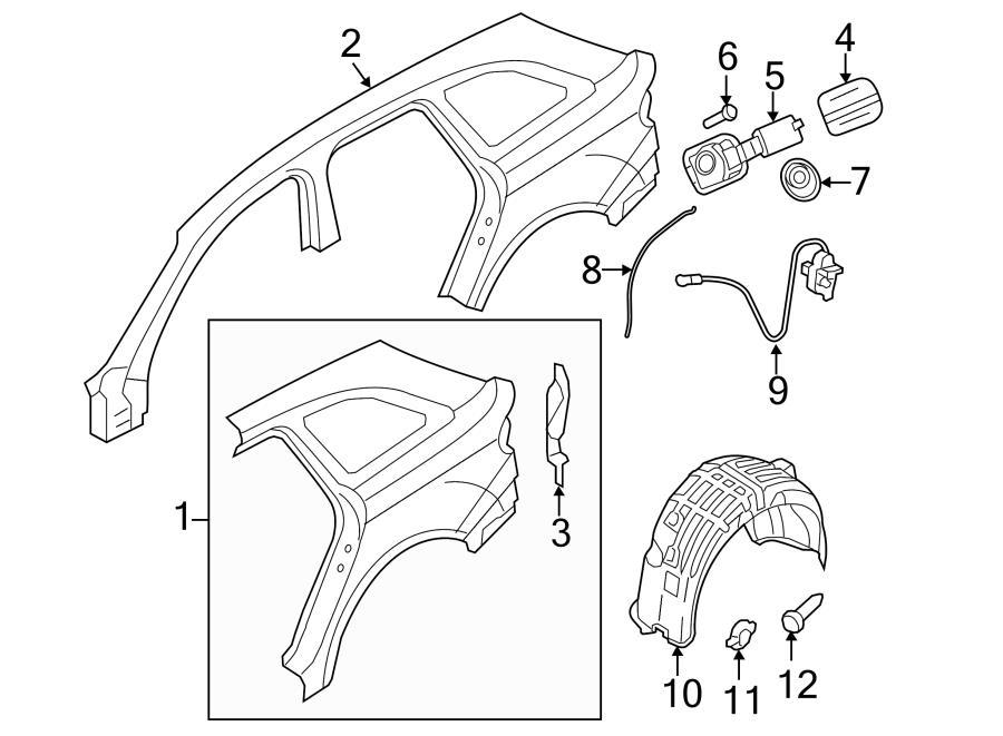2012 Audi A4 Wheelhouse protector. WHEEL HOUSING LINER