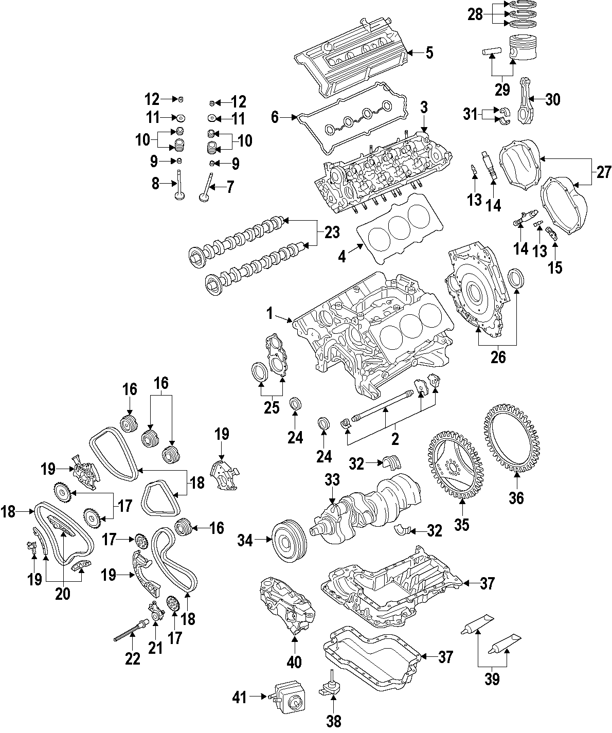 2010 Audi A4 Engine Cylinder Head Gasket. A4; Cylinders 1