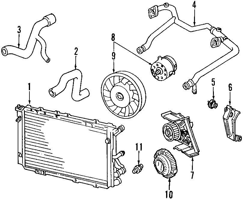 2008 Audi A4 Avant Engine Coolant Pipe. 3.2 LITER. 3.2