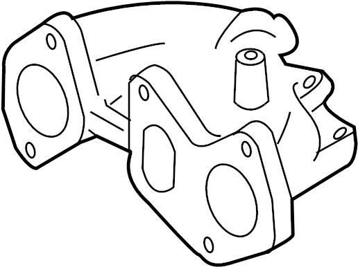 2009 Audi TT Roadster Exhaust manifold. Iron, Cast