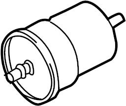 Audi TT Filter, Fuel (with Pressure Regulator). GAS FILTER