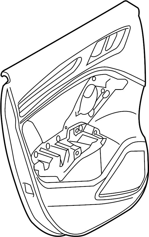 2017 Audi A3 Sportback e-tron Door Interior Trim Panel