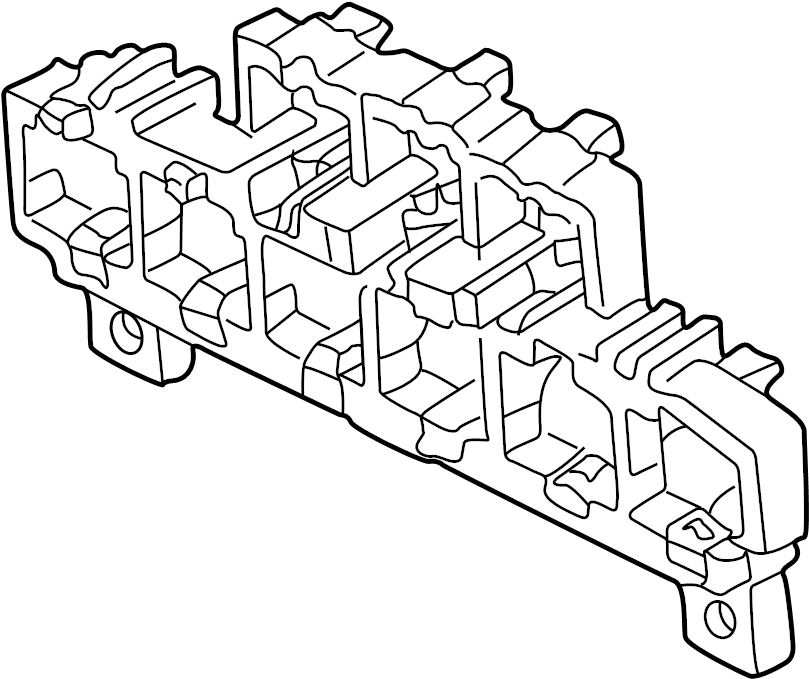 Audi Bracket for connector housing fuse box with fuse fuse