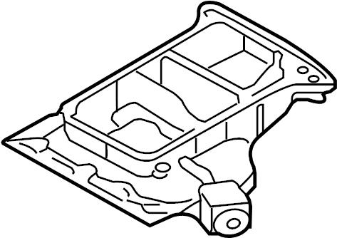 2004 Audi A4 Quattro 3.0L Oil sump-upper part. OIL