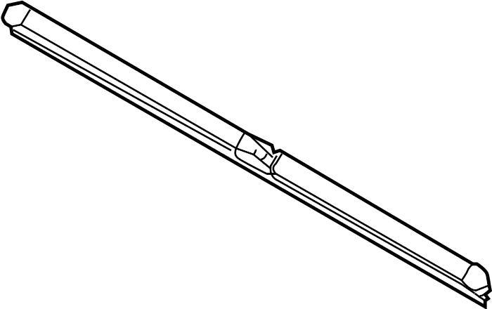 Audi A4 Cabriolet Blade, Wiper. WINDSHIELD WIPER BLA