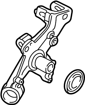 2008 Audi A4 Avant Wheel bearing housing. WHEELBEARING