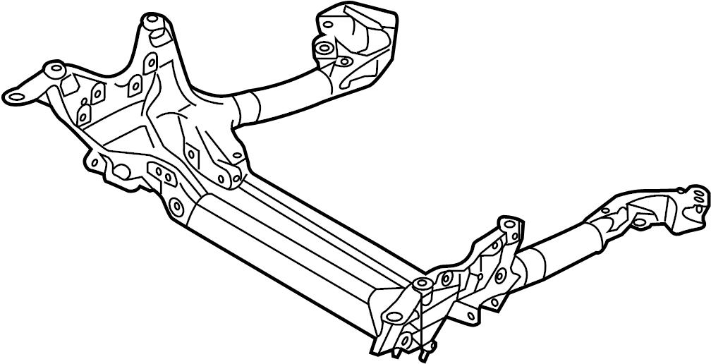 Audi RS7 Engine Cradle. Suspension Subframe Crossmember