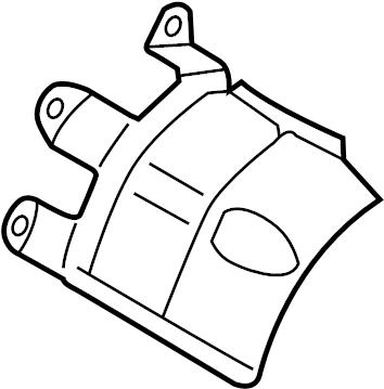 2009 Audi A5 Sportback Shield. COVER PLATE. WHYBRID