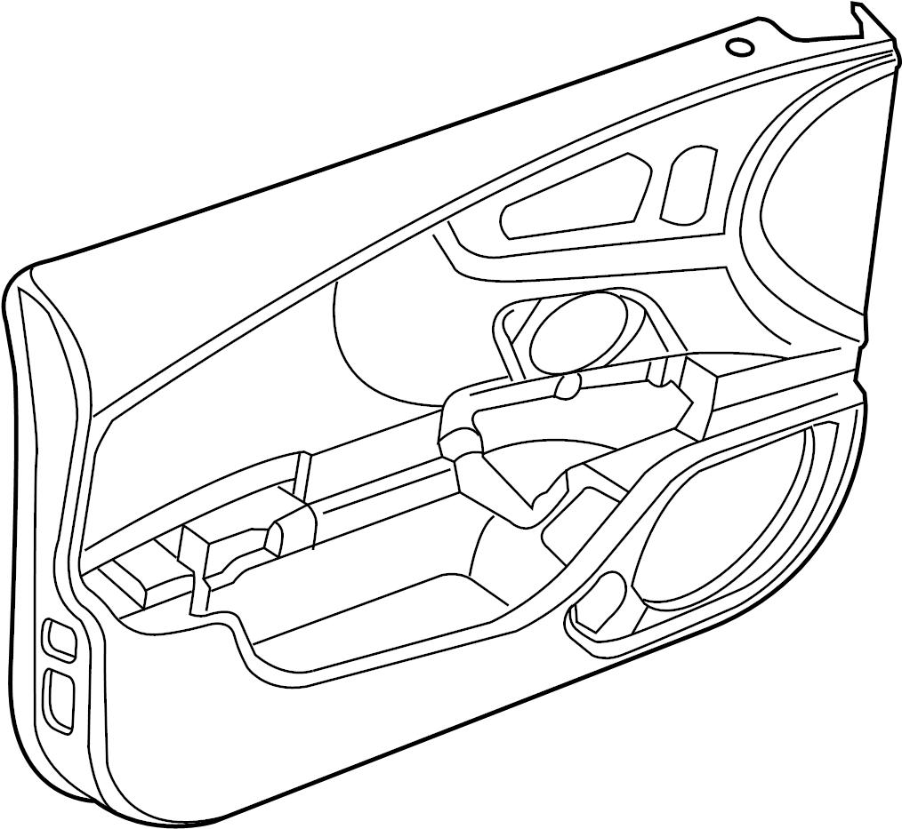 Audi RS7 Door Interior Trim Panel. Door trim panel
