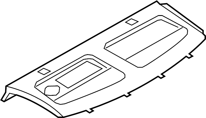 2012 Audi S5 Package tray. Package Tray Trim