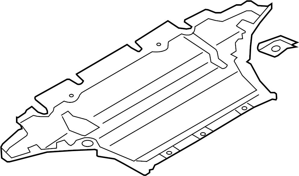 Audi A5 Radiator Support Splash Shield. Splash shield