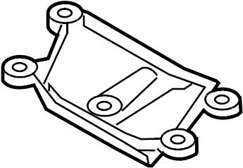 2010 Audi A4 Support for transmission. TRANSMISSION