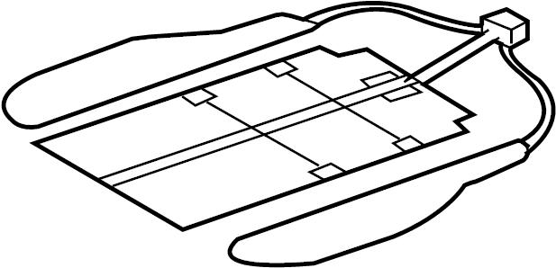 2012 Audi A5 Heater element-seat. HEARTER, Elementseat