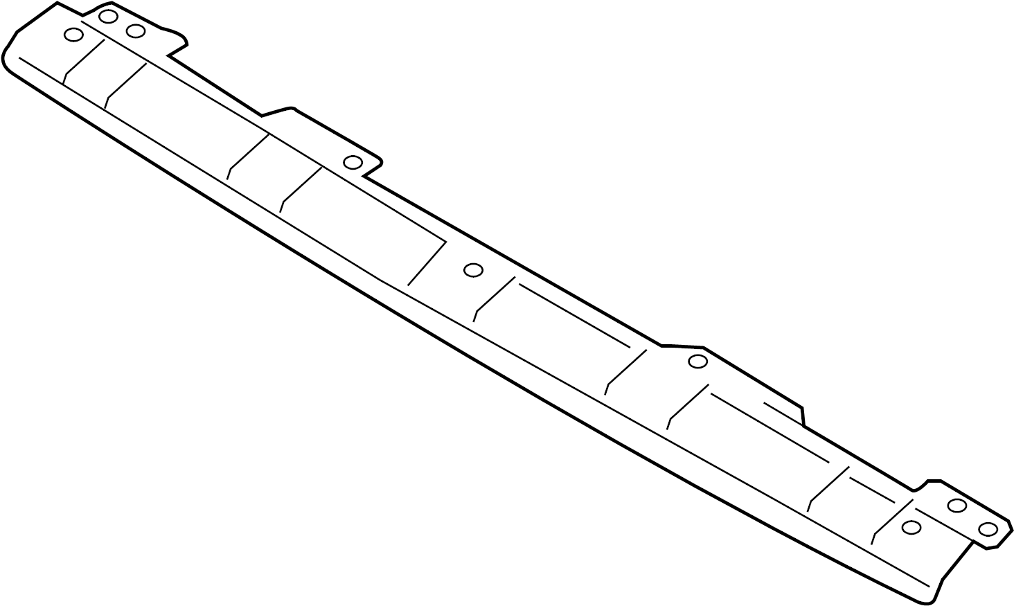 Audi S5 Roof Frame Cross Memb Header Ftop