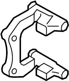 2016 Audi SQ5 Caliper mount. Disc Brake Caliper Bracket