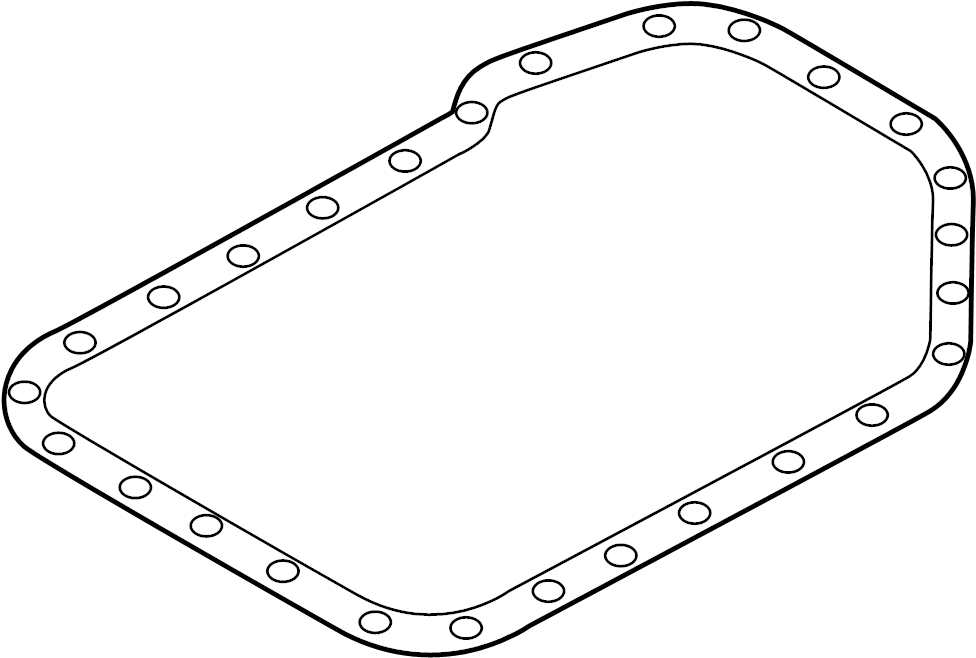 2004 Audi S6 Gasket for oil pan. GASKET FOR OIL SUMP. OIL