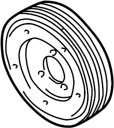 2005 Audi A4 Quattro Pulley. V BELT PULLEY. BELT PULLEY
