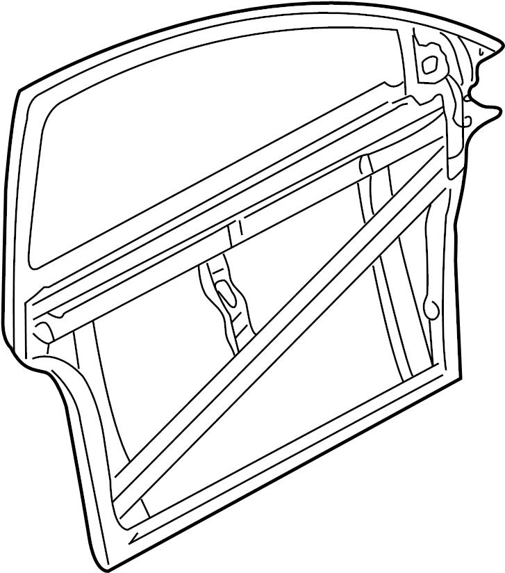 Audi Door inner panel with door window frame front