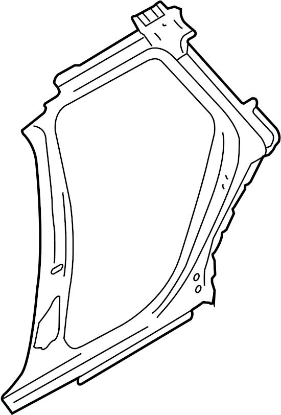 2005 Audi A6 Quattro Side panel, inner pillar b/c
