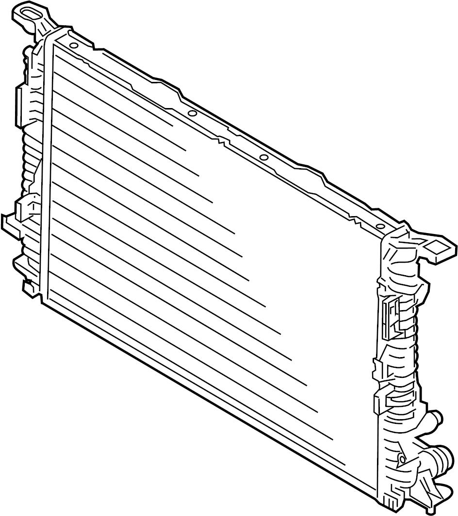 2009 Audi Q5 Radiator. Wmanual, CAHACAHB, CAEB