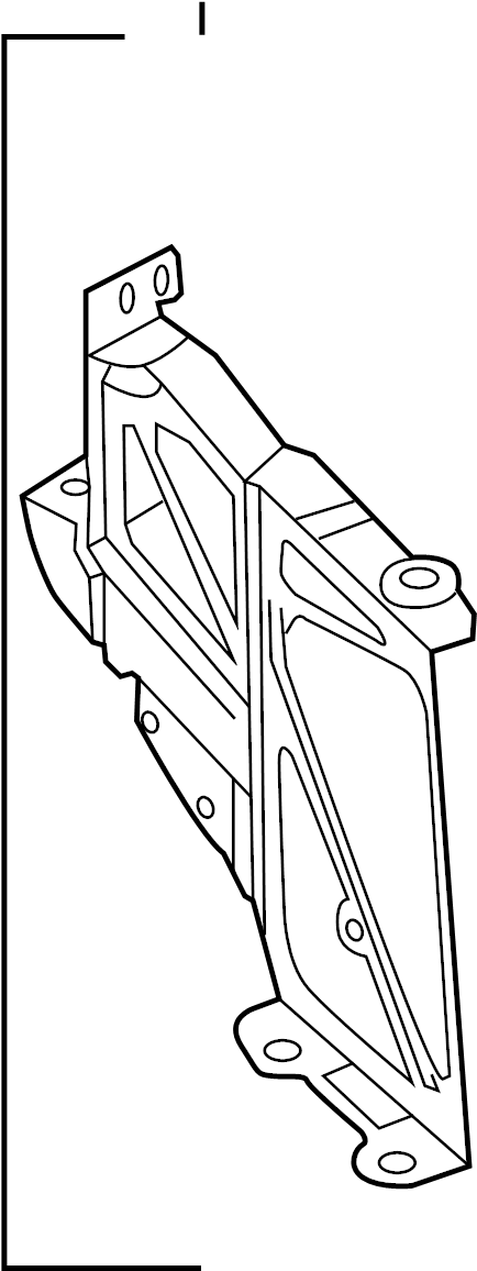 Audi A6 Bracket for additional radiator. ADDITIONAL