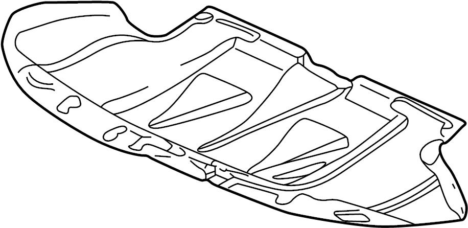 2004 Audi A6 Quattro Allroad Sound baffle. SOUND DAMPENING