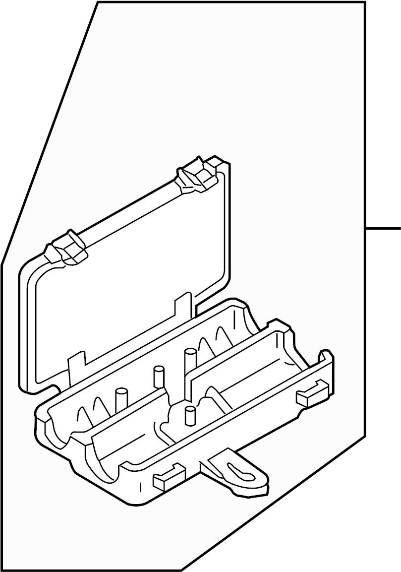 2006 Audi A8 Quattro Main fuse box fuse holder side panel