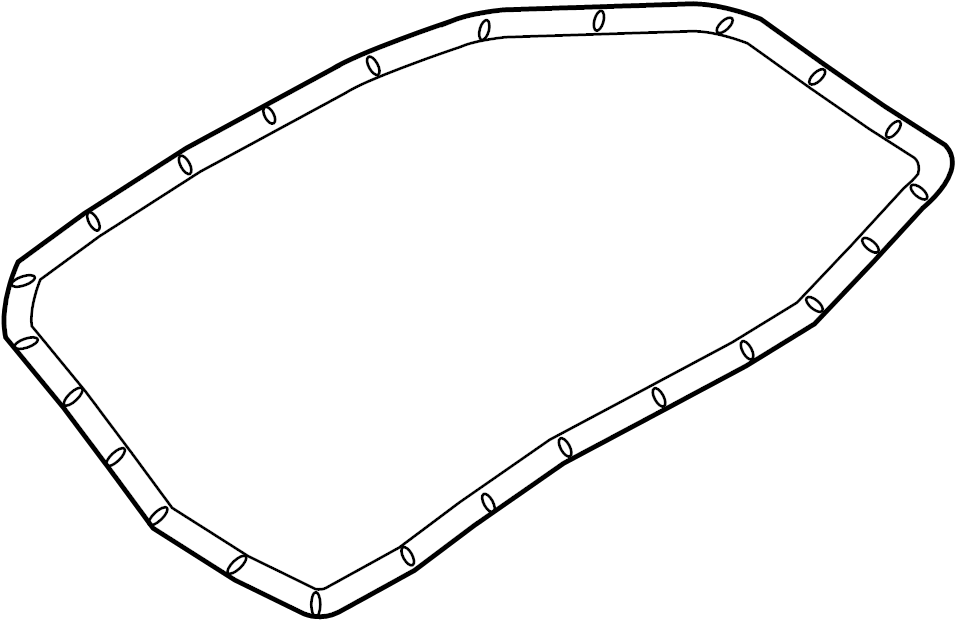 Audi A6 Gasket for oil pan. GASKET FOR OIL SUMP. OIL PAN