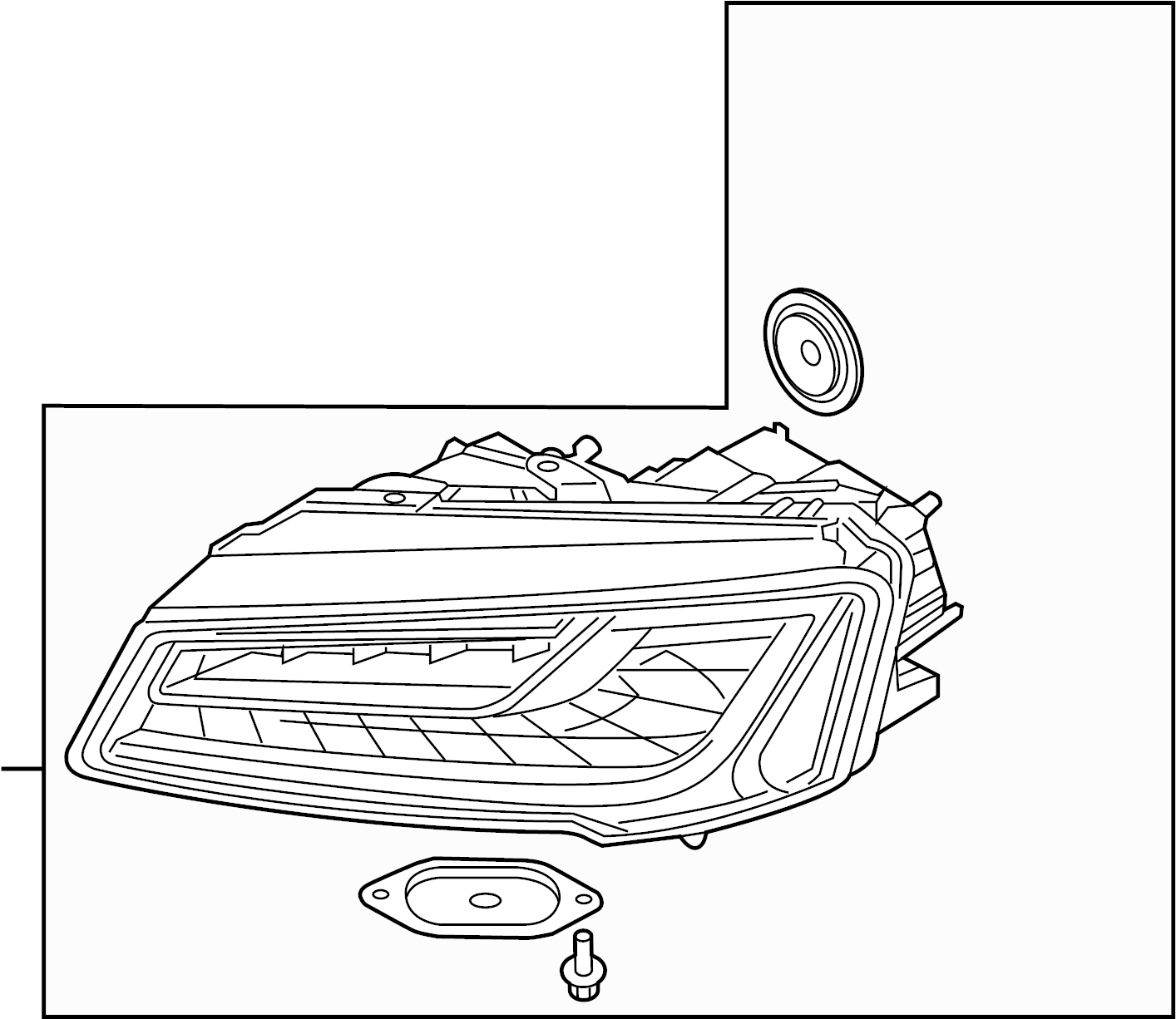 Audi S8 Headlamp Assy Headlight Assembly