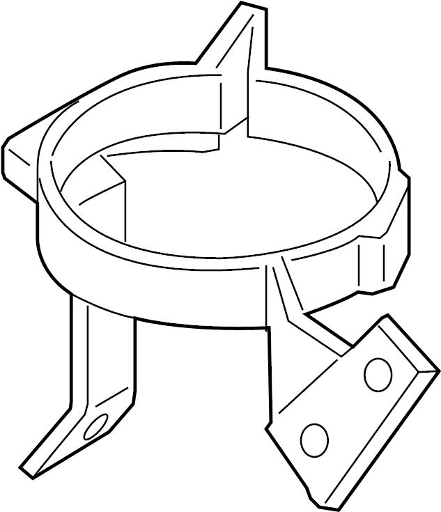 2014 Audi A8 Engine Water Pump Bracket. Retaining brkt