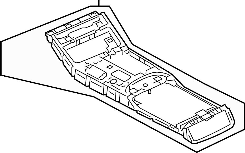 Audi A8 Center console, upper part. UPPER CENTER CONSOLE