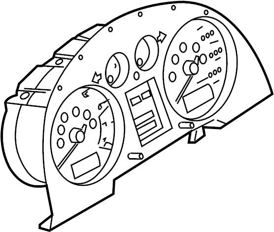 2000 Audi Instrument cluster. COMBI INSTRUMENT
