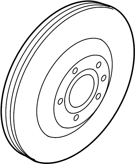 Audi A7 7-AT Rotor, Brake (Ventilated). VENTILATED DISC