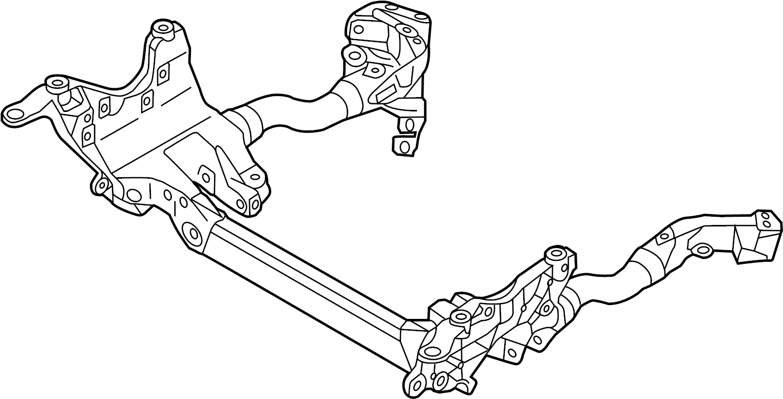 Audi Q5 Sub frame. Transmission, Drive, Automatic