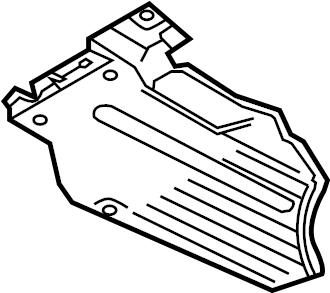 Audi Q5 Floor Pan Splash Shield. Inner. ORVRand, Siphoning