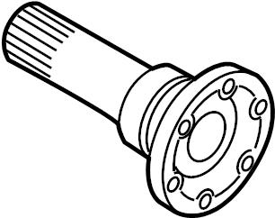Audi A4 Flange shaft. Transmission, Drive, Fourwheel