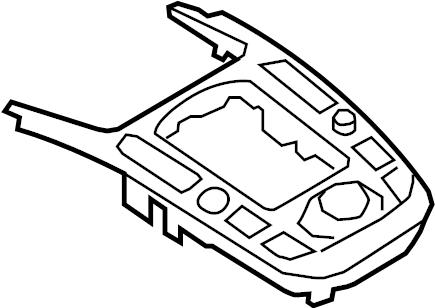 Audi A5 Control panel. Controller. Radio Knob. Radio