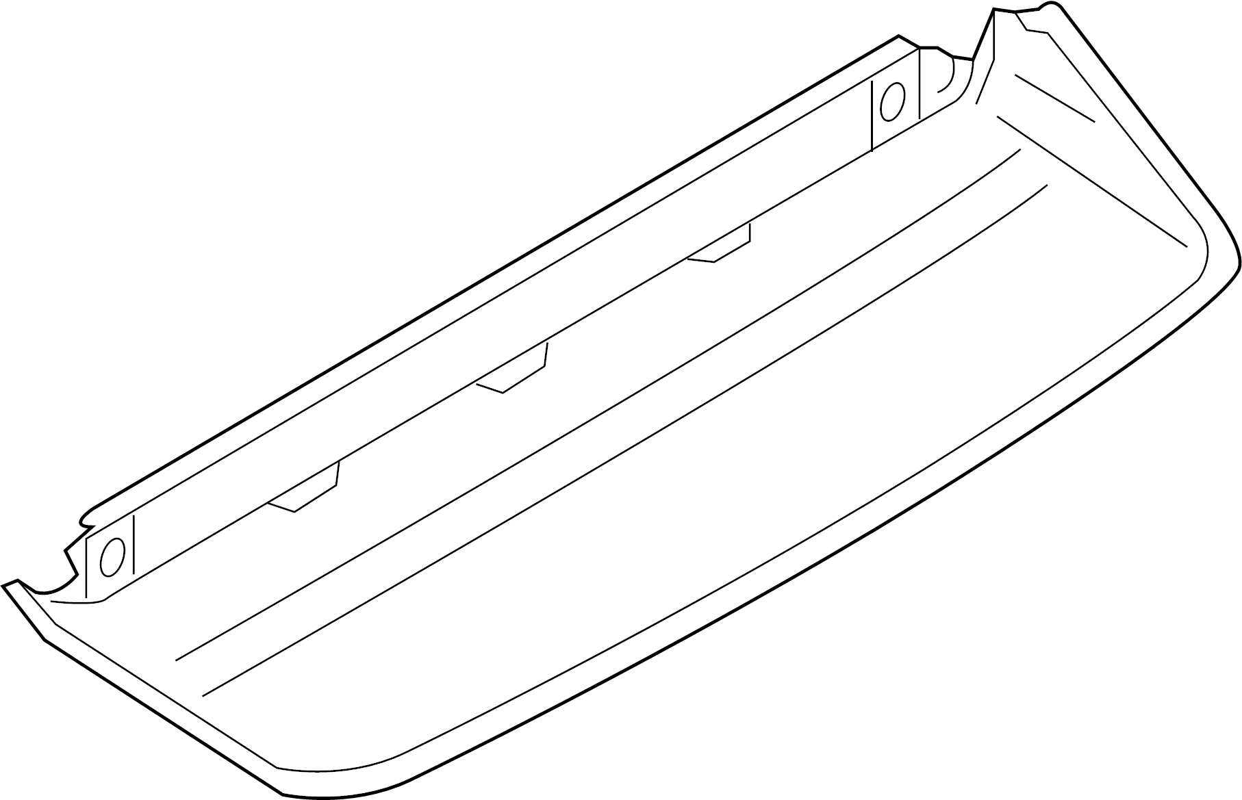 2010 Audi A4 Additional brake light. HIGH MOUNTED BRAKE L
