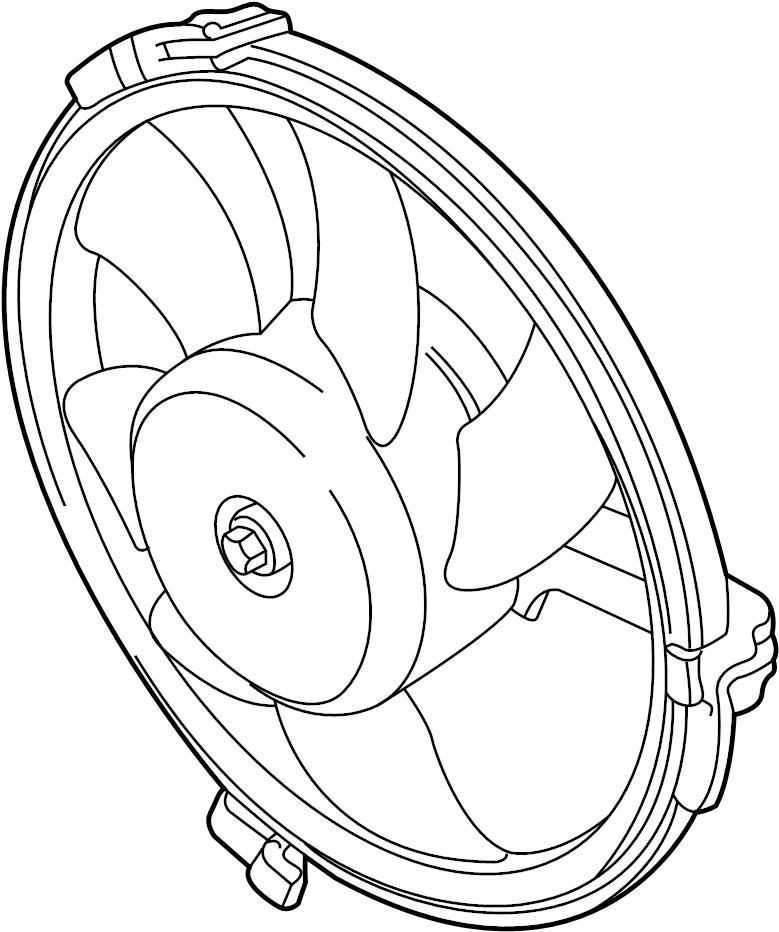 2001 Audi A6 Pin (male) terminal housing electric fan with