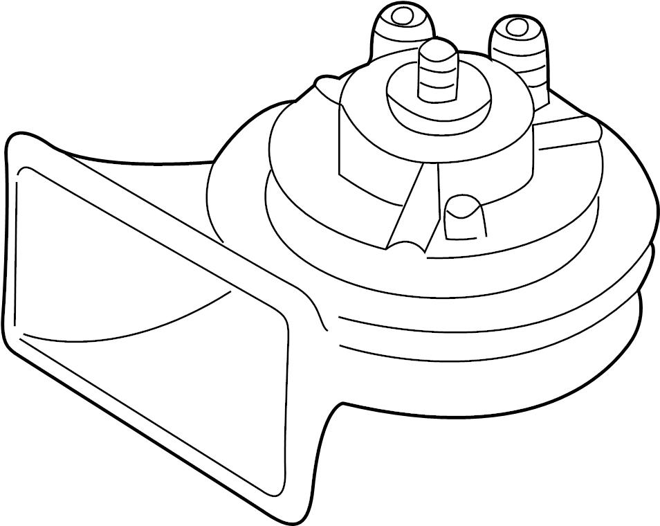 2001 Audi A4 Quattro Avant Spring clip fanfare horn. TWIN