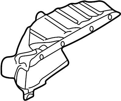 2002 Audi A4 Quattro Avant Cover-warm air deflector. ATW